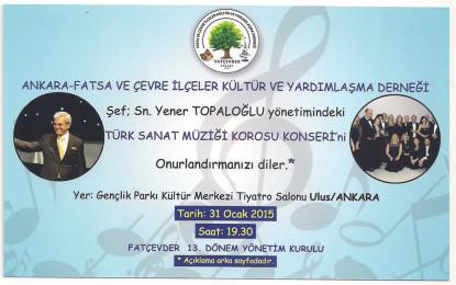 Fatçevder T.S.M. Korosu Konseri ve İmza Günü