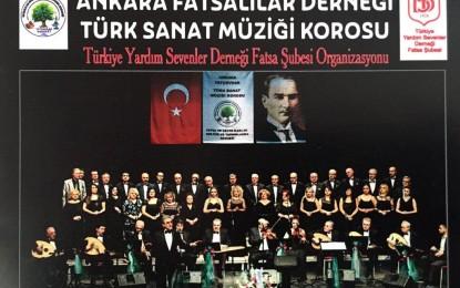 """Derneğimizin """"Türk Sanat Müziği Korosu"""" Fatsa'da Bahar Konseri Veriyor"""